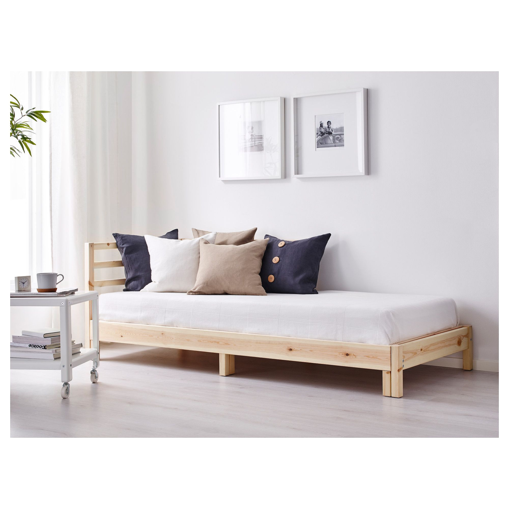 ikea tarva day bed with 2 mattresses two functions in one chaise longue by day and bed by night