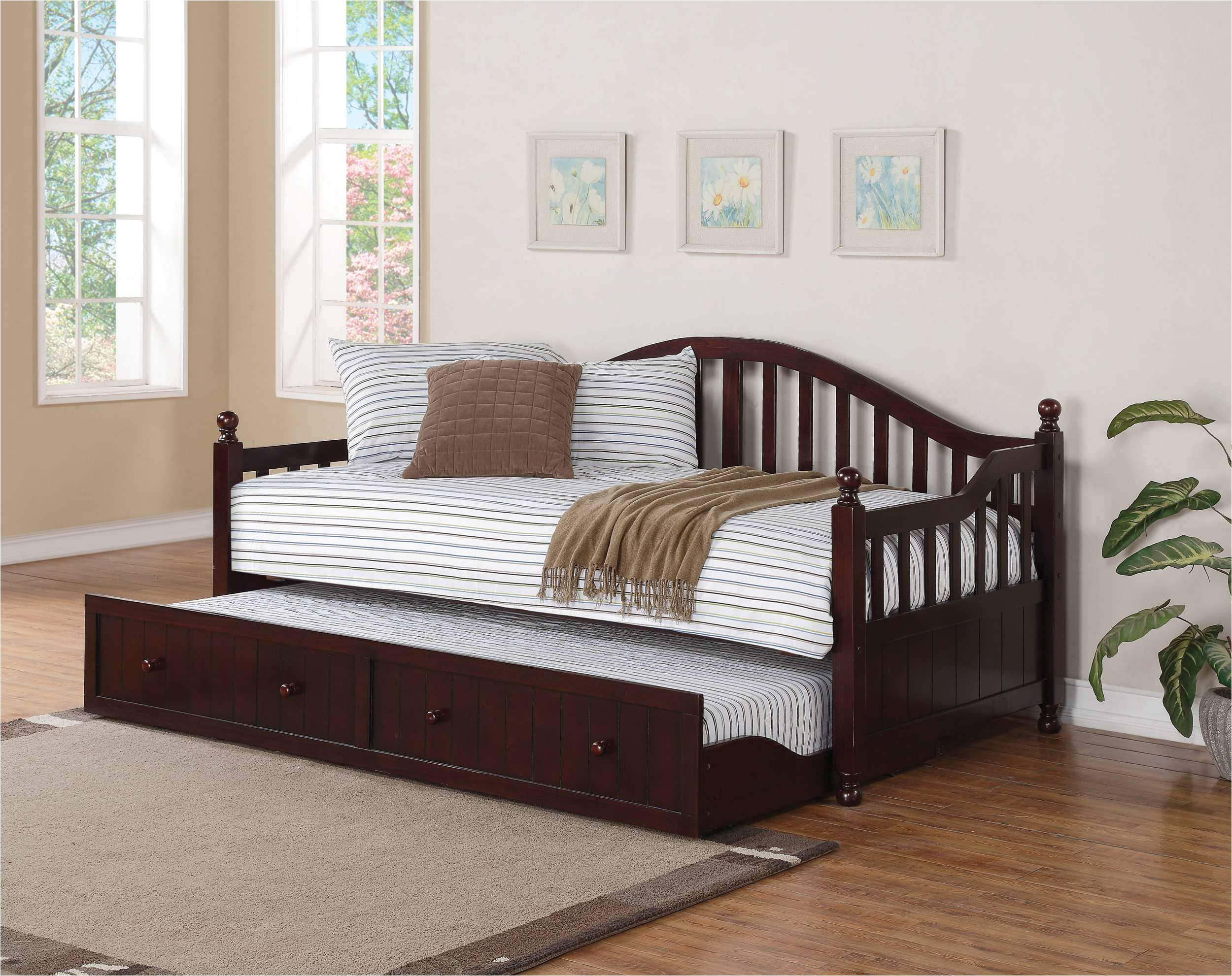 full size of daybed coaster cappuccino traditionally styled wood with trundle wooden white twin uk solid