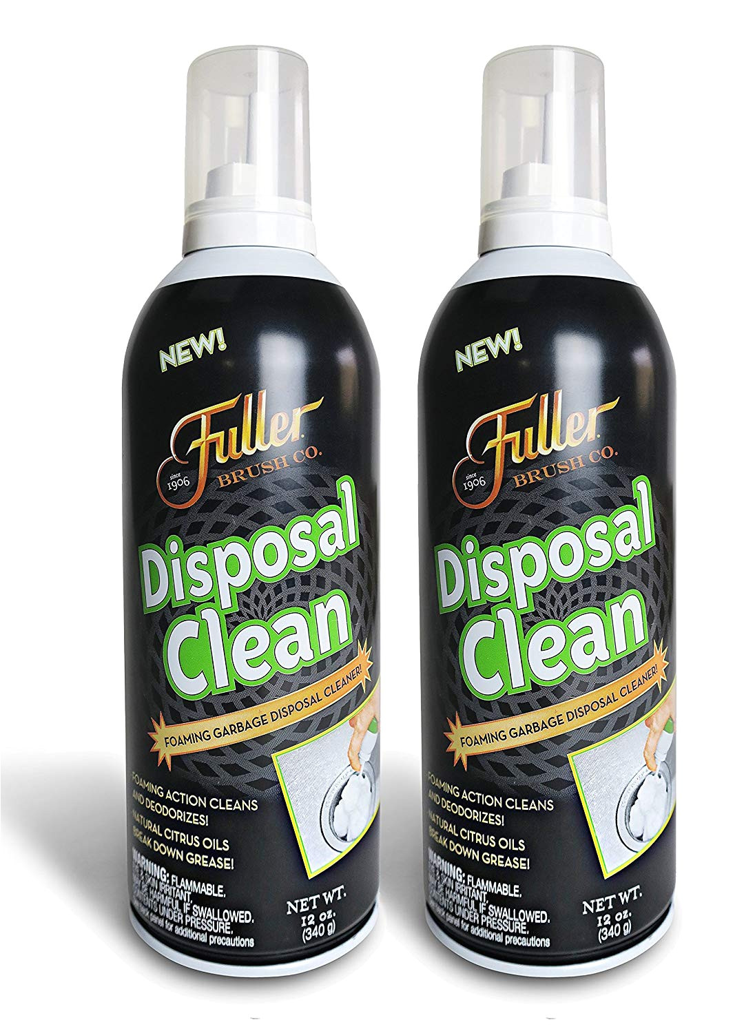 amazon com fuller brush garbage disposal cleaner foaming action fresh citrus scent 12 oz home kitchen