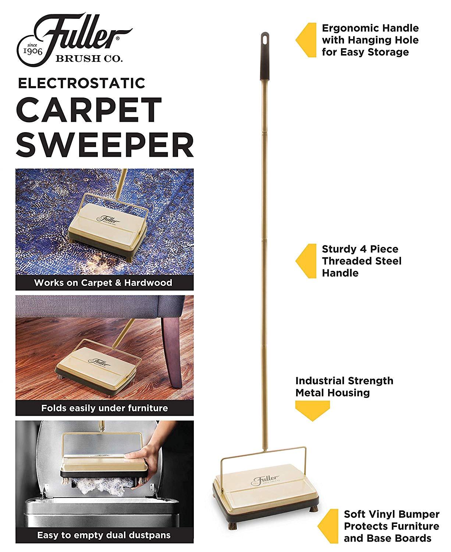 fuller brush 17029 electrostatic carpet and floor sweeper fresh mint