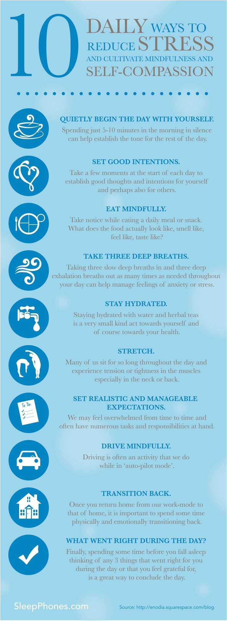 10 daily ways to reduce stress