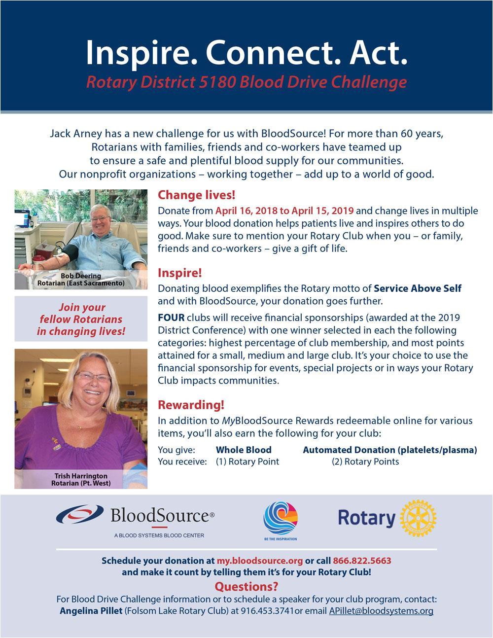 2018 19 blood drive challenge
