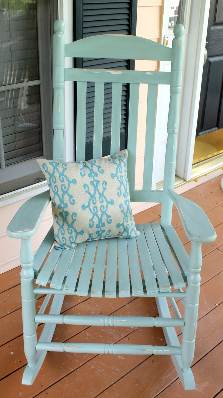 hand painted rocking chair 150 00 via etsy
