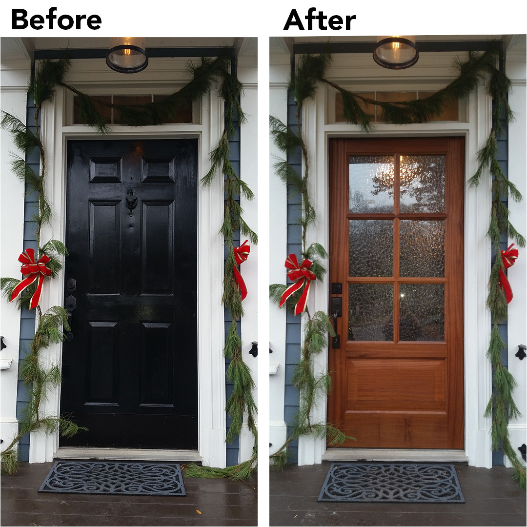 before and after front entry door installation december 2015