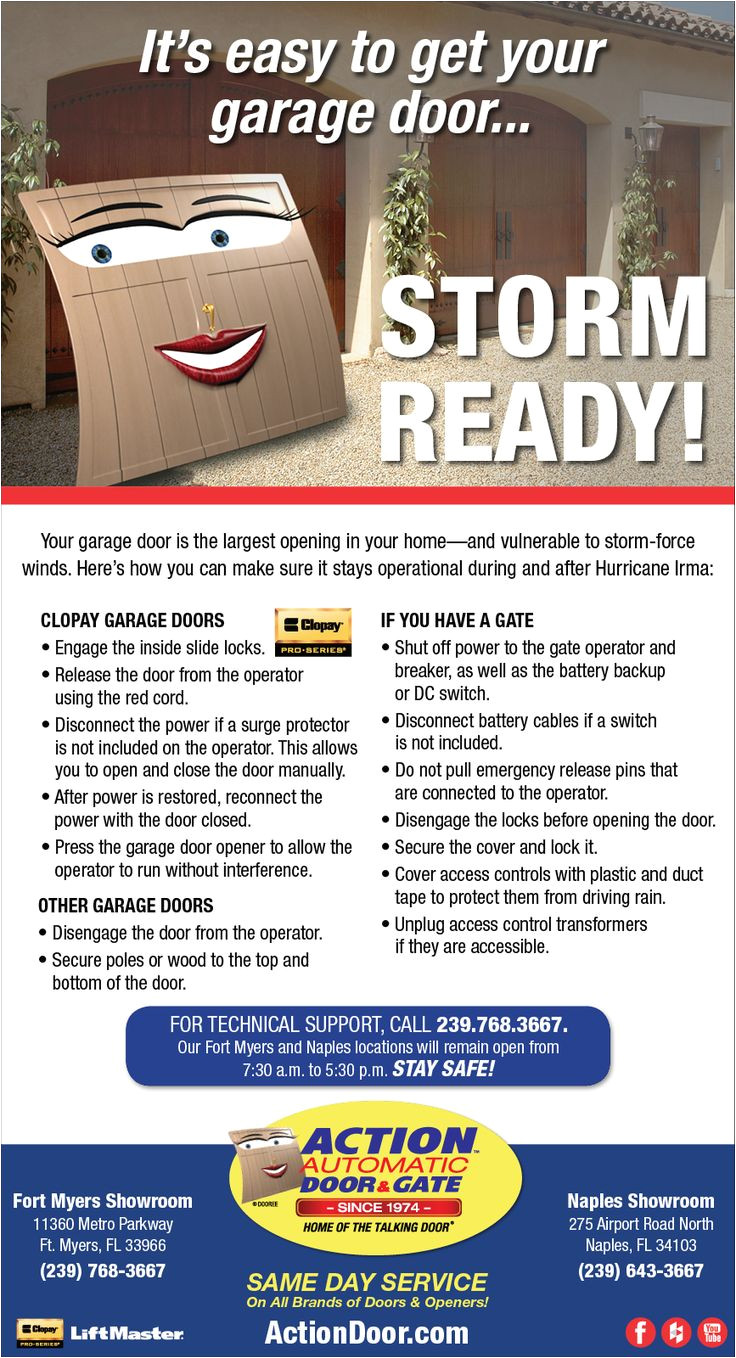 in just a few steps your garage door will be ready for irma actiondoor