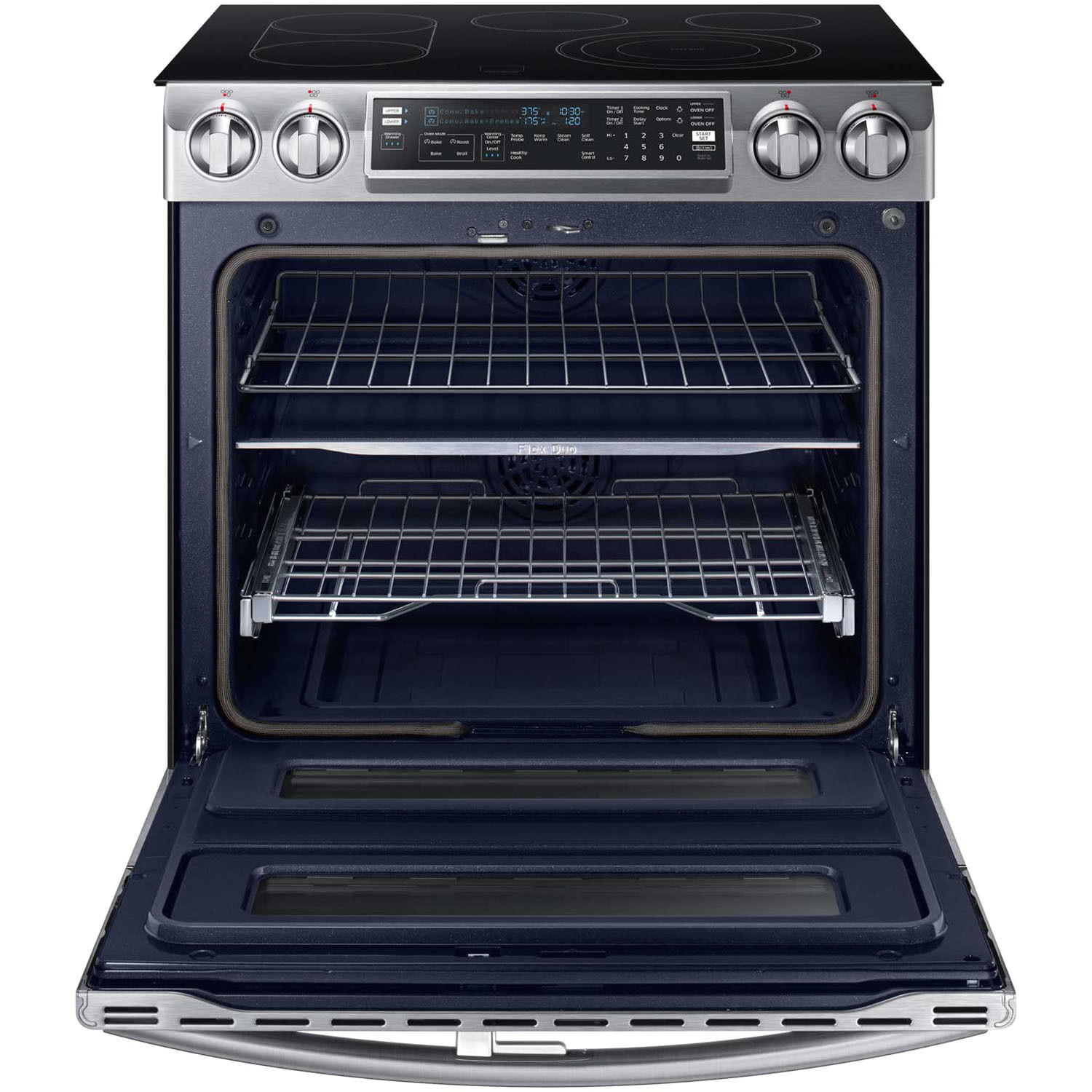 samsung ne58k9850ws 30 flex duo slide in electric convection range ebay