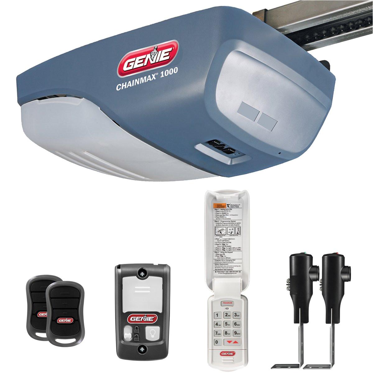 Genie Garage Door Opener Red Light Flashing Genie Chainmax 1000 Garage Door Opener 3 4 Hpc Dc Chain Drive