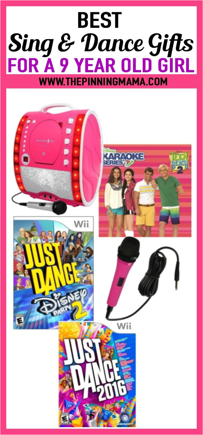 best sing and dance gift ideas for a 9 year old girl includes karaoke