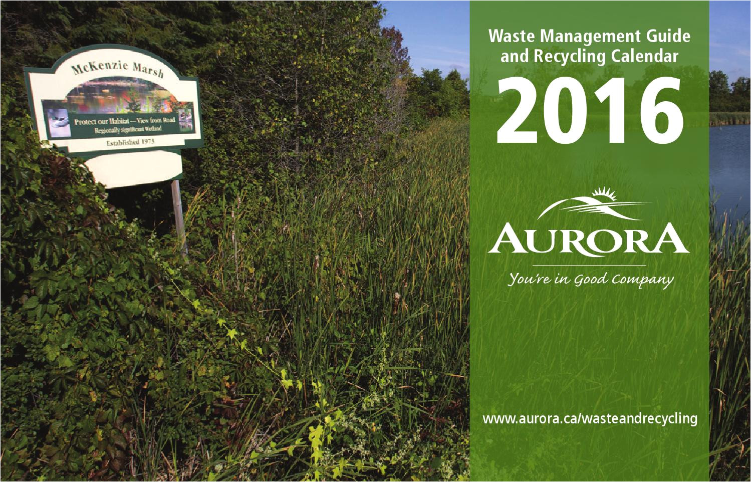 2016 waste management guide and recycling calendar by town of aurora issuu