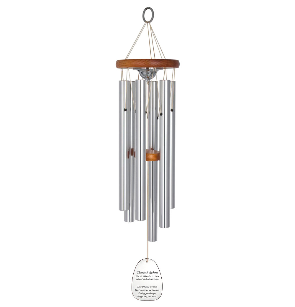amazing grace memorial wind chime cremation urn with engraving 127 jpg
