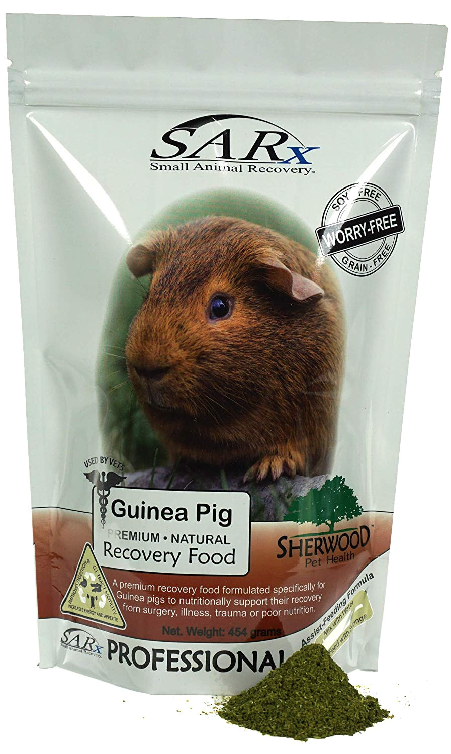 amazon com recovery food for guinea pigs sarx by sherwood pet health soy grain free compare to critical care 454 grams pet supplies