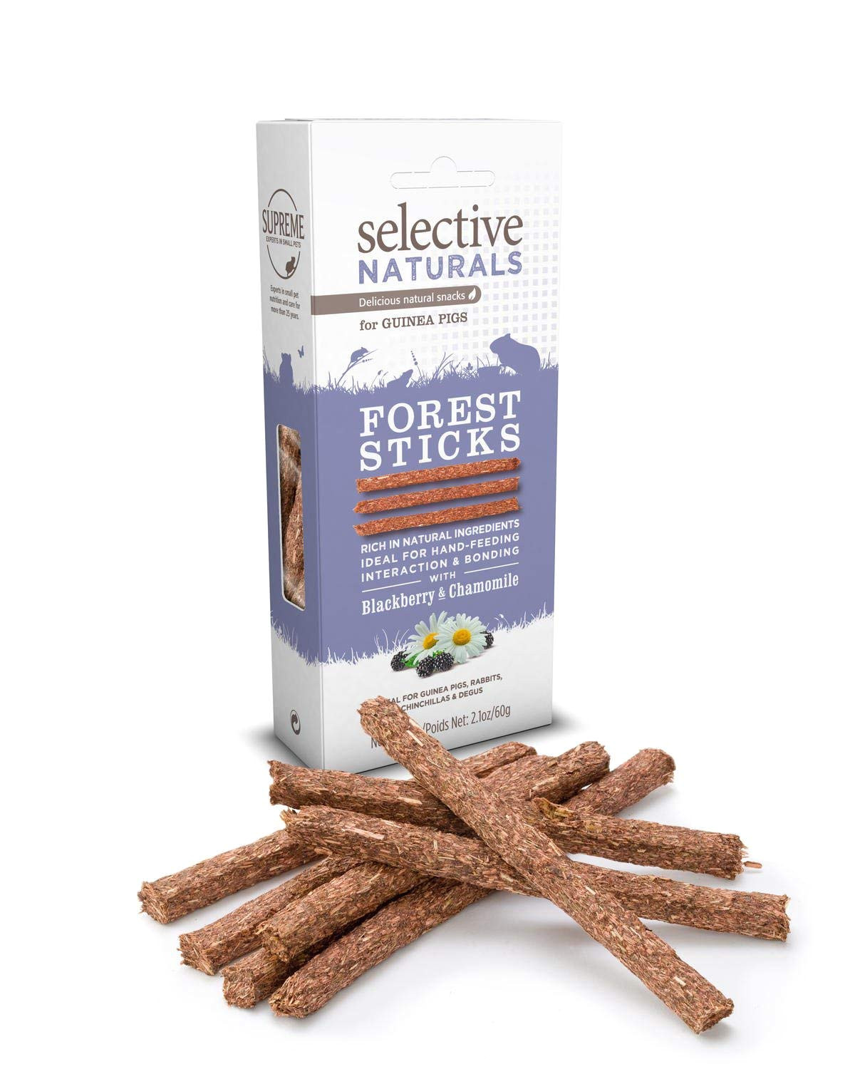 amazon com selective naturals forest sticks for guinea pigs with blackberry and chamomile pet supplies
