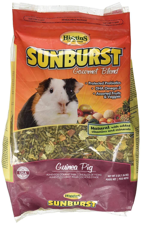 amazon com higgins sunburst gourmet food mix for guinea pigs 3 pound pet food pet supplies