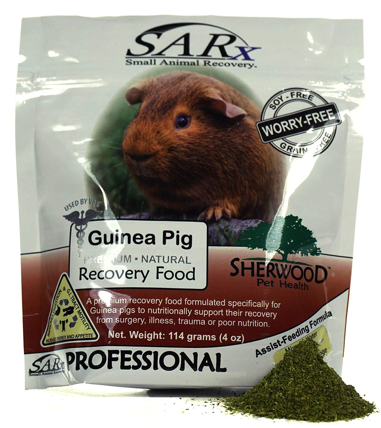 amazon com sherwood pet health recovery food for guinea pigs sarx soy grain free compare to critical care 114 grams pet supplies