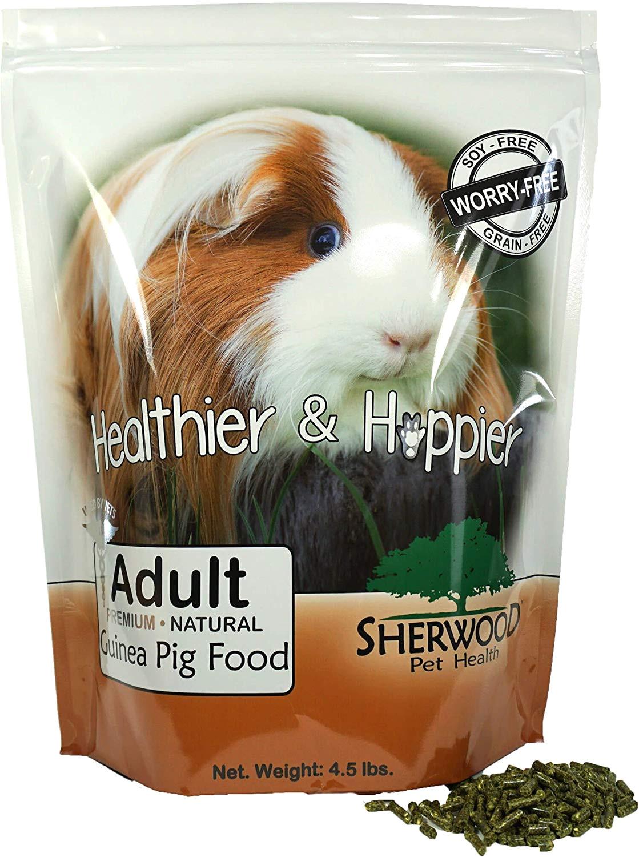 amazon com sherwood pet health guinea pig food adult 4 5 lb timothy blend grain soy free 4 5 lb vet used pet supplies