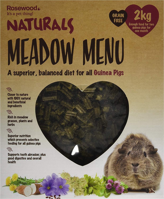 rosewood naturals meadow menu guinea pig food 2kg amazon co uk pet supplies