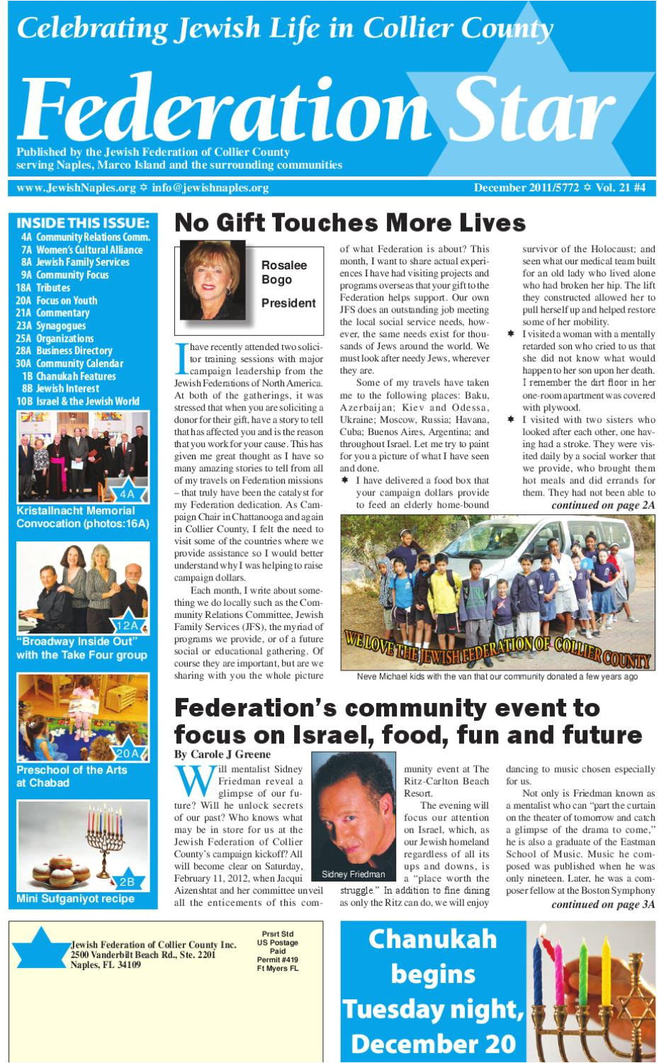 federation star december 2011 by jewish federation of collier county issuu