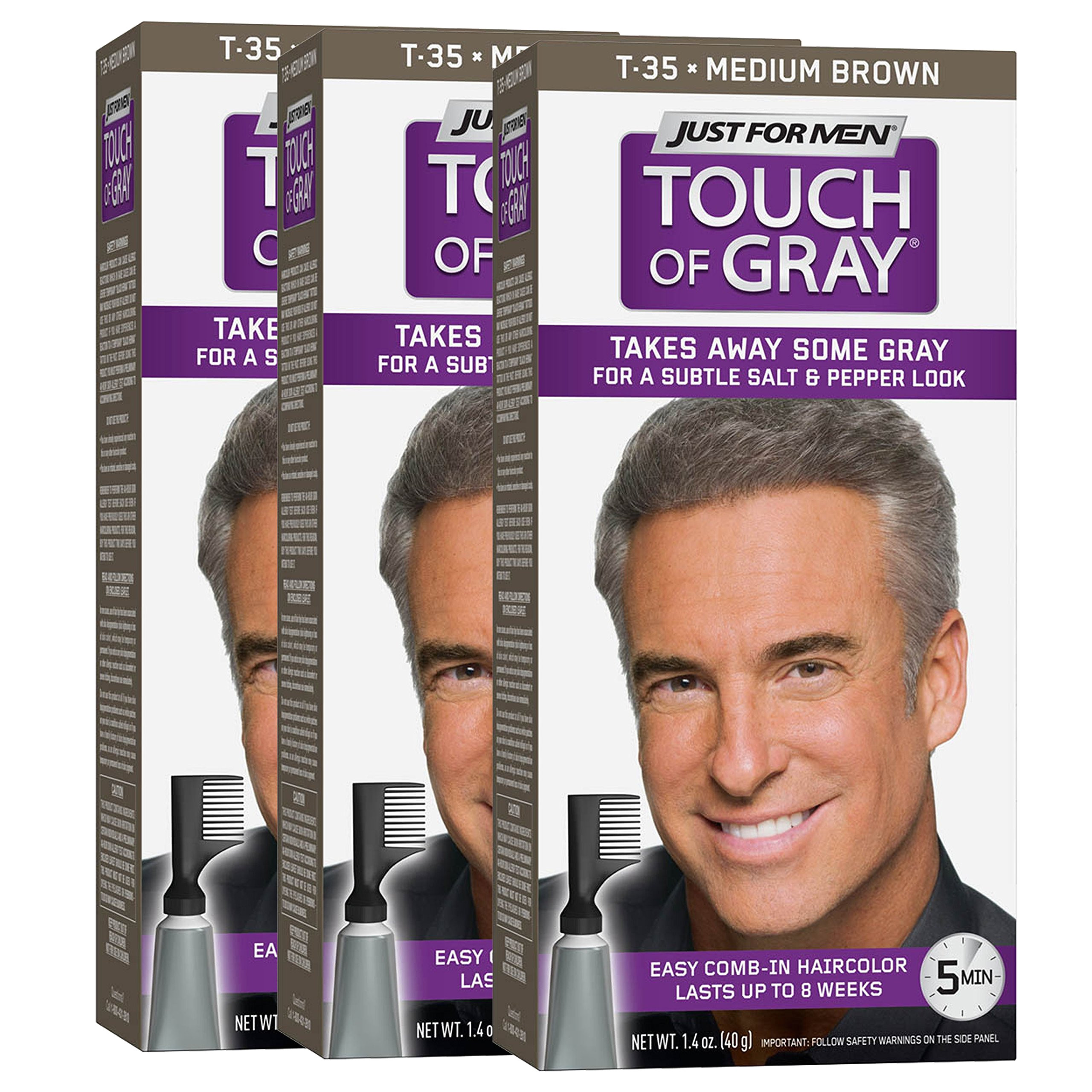 just for men touch of gray comb in men s hair color medium brown