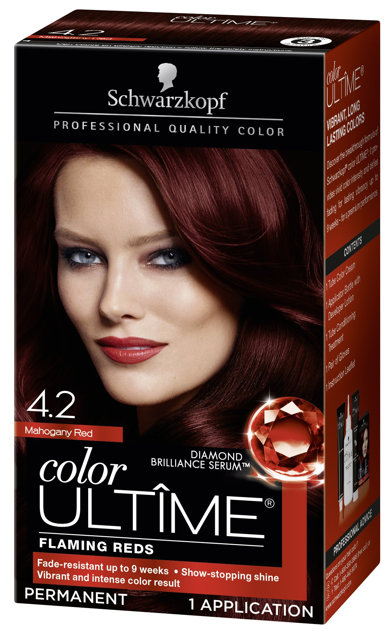 schwarzkopf ultime hair color cream 4 2 mahogany red 5 7 ounces