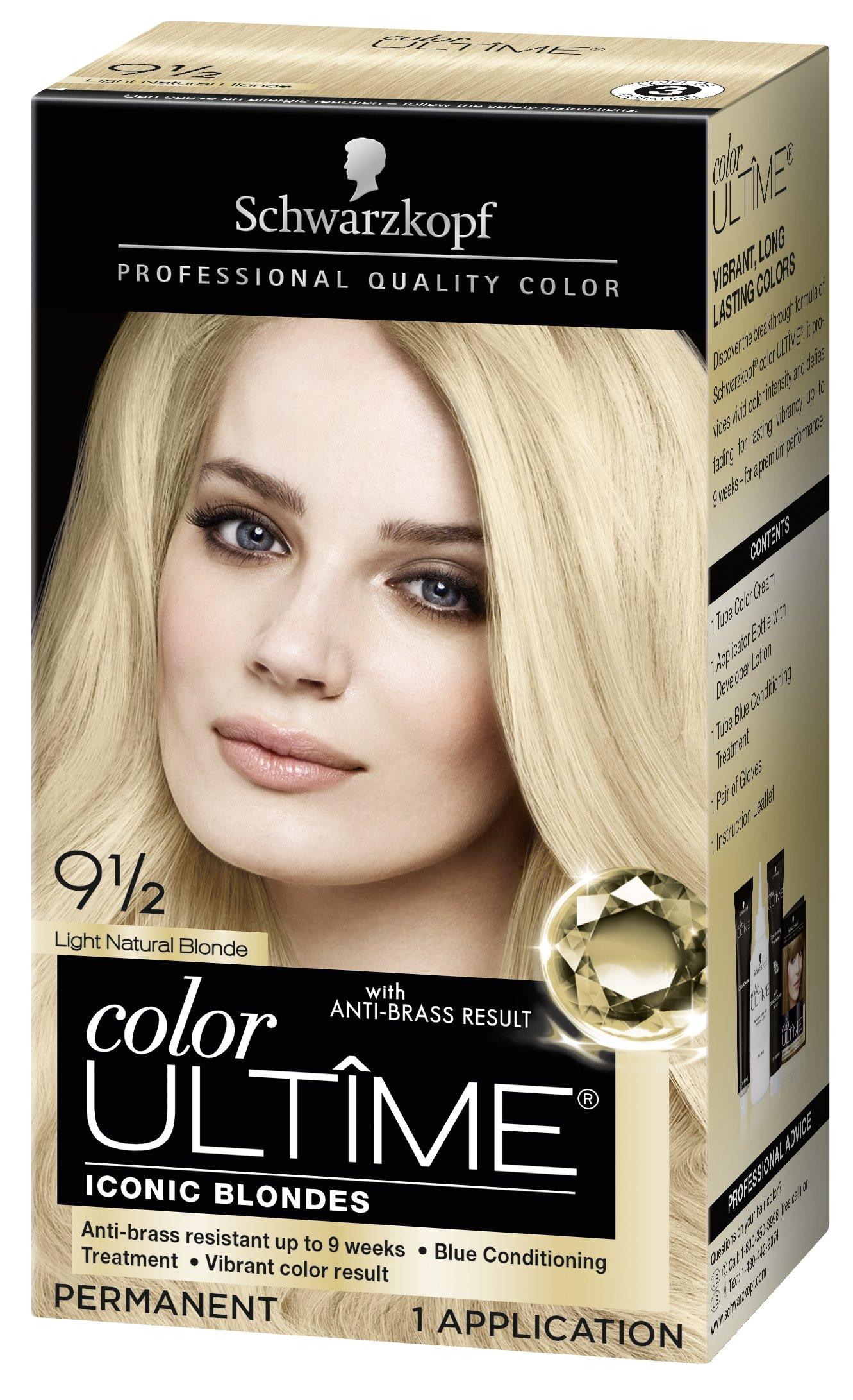 amazon com schwarzkopf ultime hair color cream light natural blonde 9 5 2 03 ounces beauty