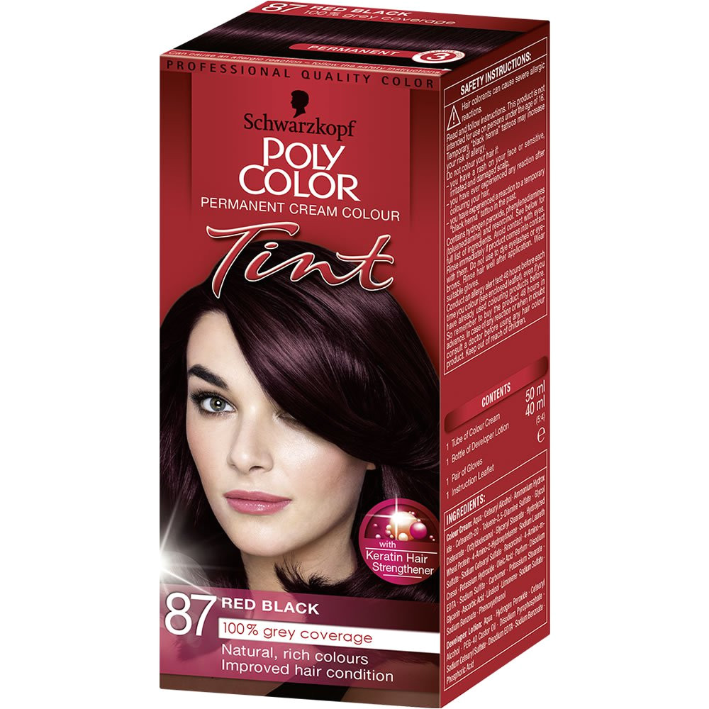schwarzkopf poly color tint red black 87 image