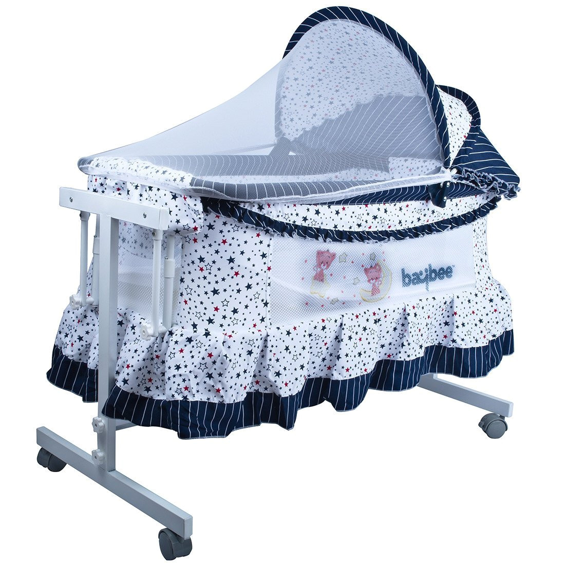 buy goodluck baybee new born baby cradle for kids baby bed crib with swing function stroller cradle with mosquito net canopy for babies up to 18