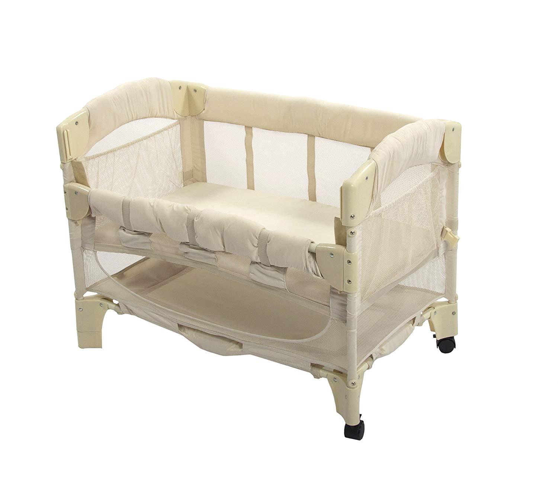 amazon com arm s reach euro mini arc co sleeper bedside bassinet natural baby