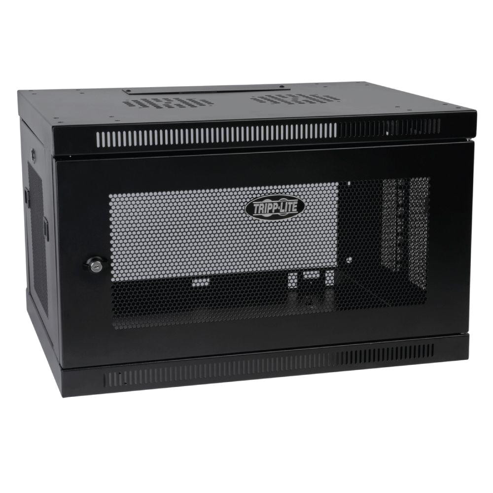 tripp lite 6u wall mount rack enclosure cabinet wallmount with door and sides
