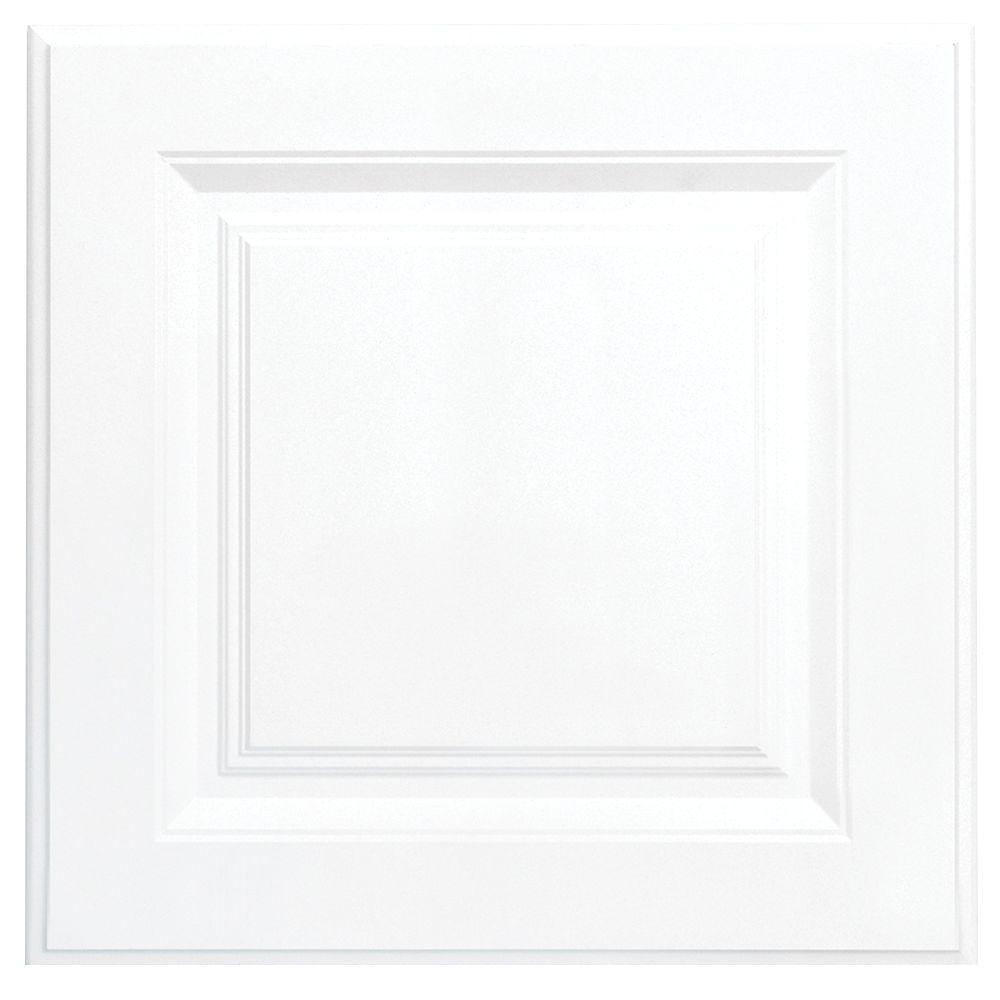 hampton bay 12 75x12 75 in cabinet door sample in hampton satin white