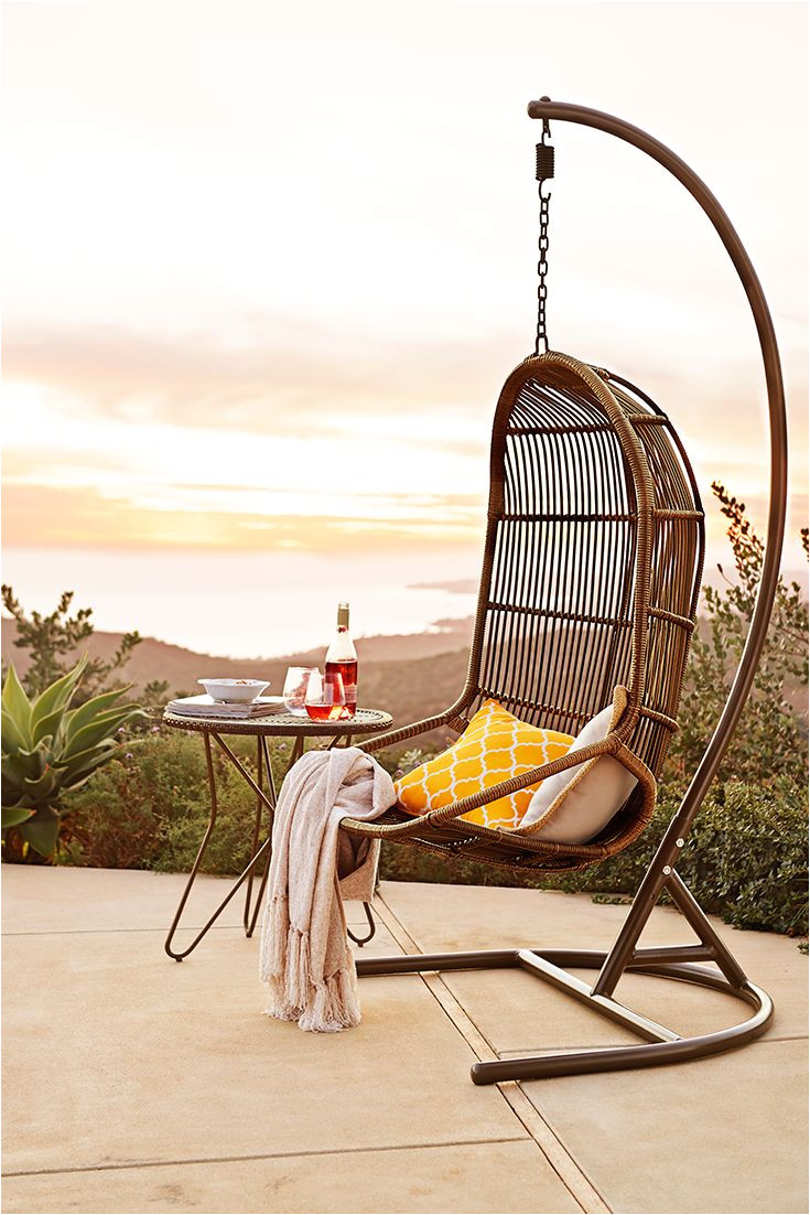 go on and on about the durability of the pier 1 swingasana made of wrought iron and synthetic rattan but we all know th outdoor inspiration chair