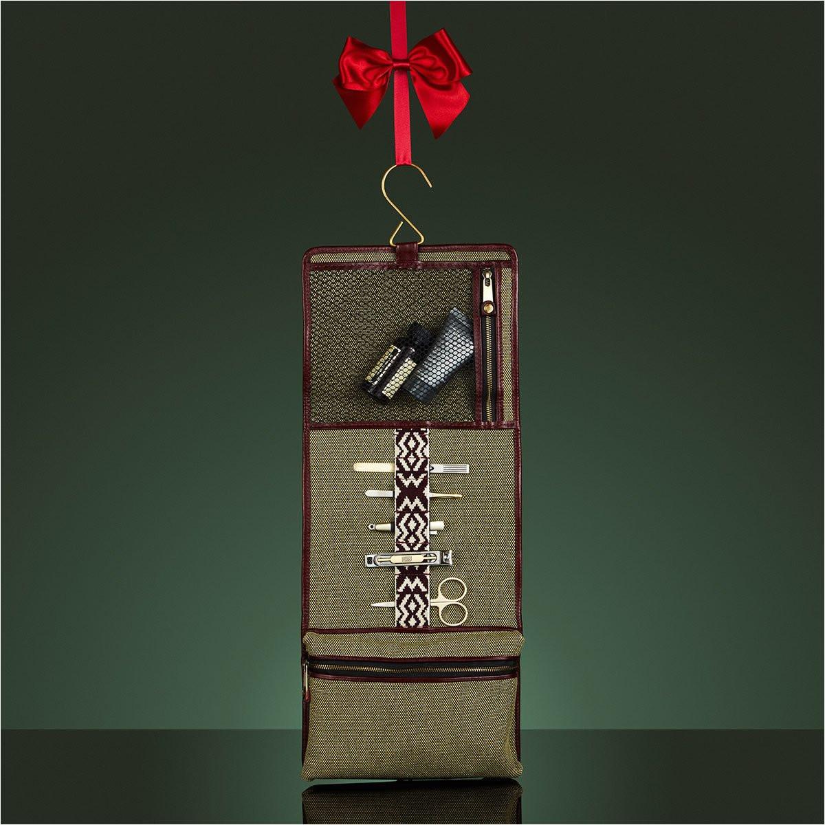 herringbone wash roll bordeaux red men s toiletry hanging travel bag