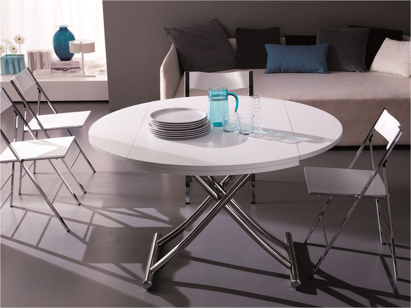 globe height adjustable coffee table by ozzio design design studio ozeta