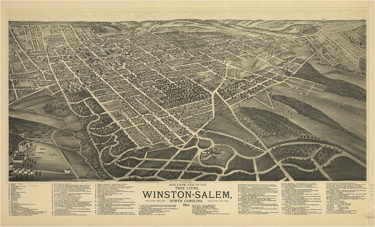 fig 15 birds eye view of the twin cities winston