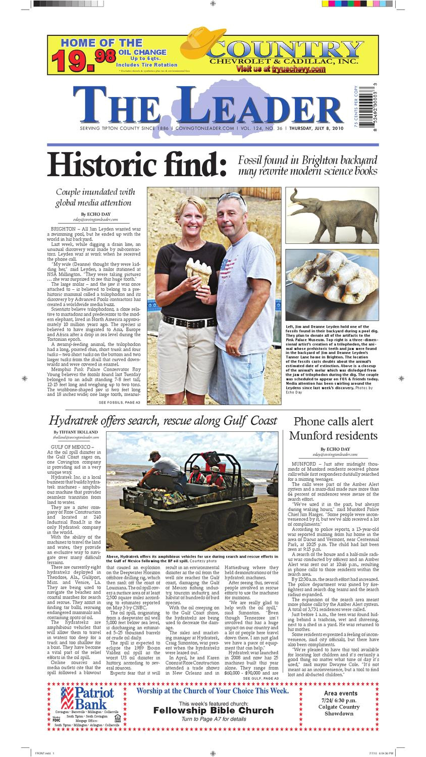 Hernandez Tire Shop Hattiesburg Ms Phone Number the Leader July 8 2010 by the Leader issuu