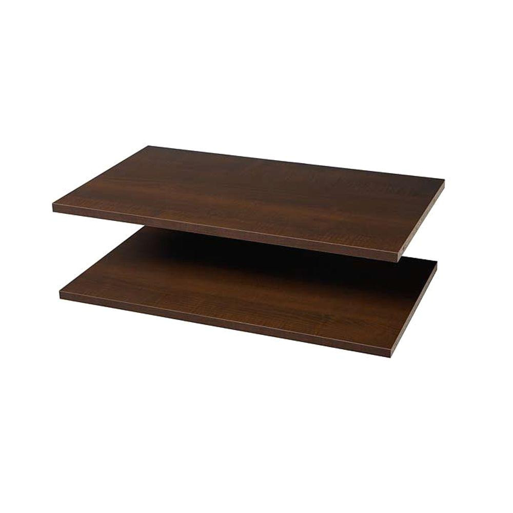 martha stewart living 24 in espresso shelves 2 pack d4 the home depot