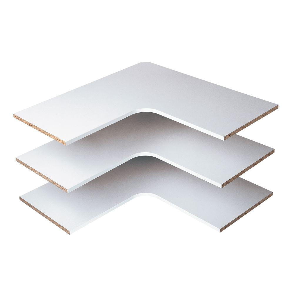martha stewart living 30 in classic white corner shelf 3 pack w7 the home depot