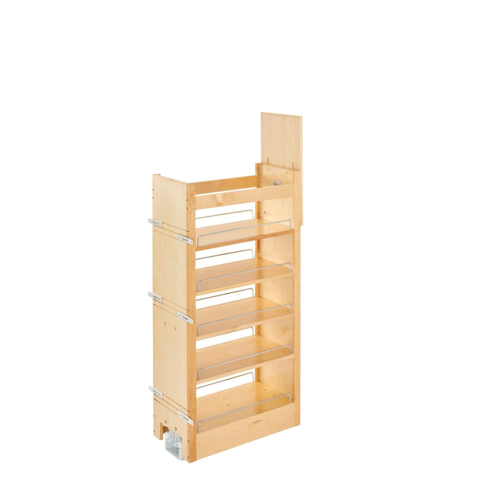 rev a shelf 43 375 in h x 14 in w x 22 in d pull out wood tall cabinet pantry 448 tp43 14 1 the home depot