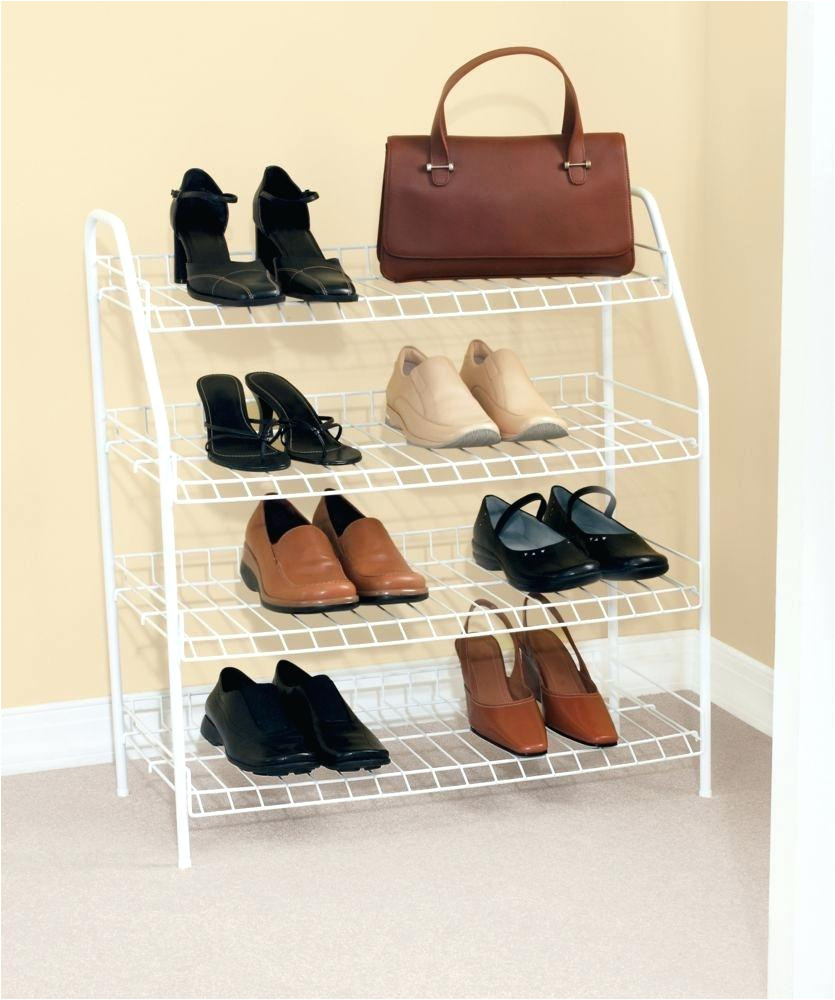 rubbermaid shoe rack reach in closet