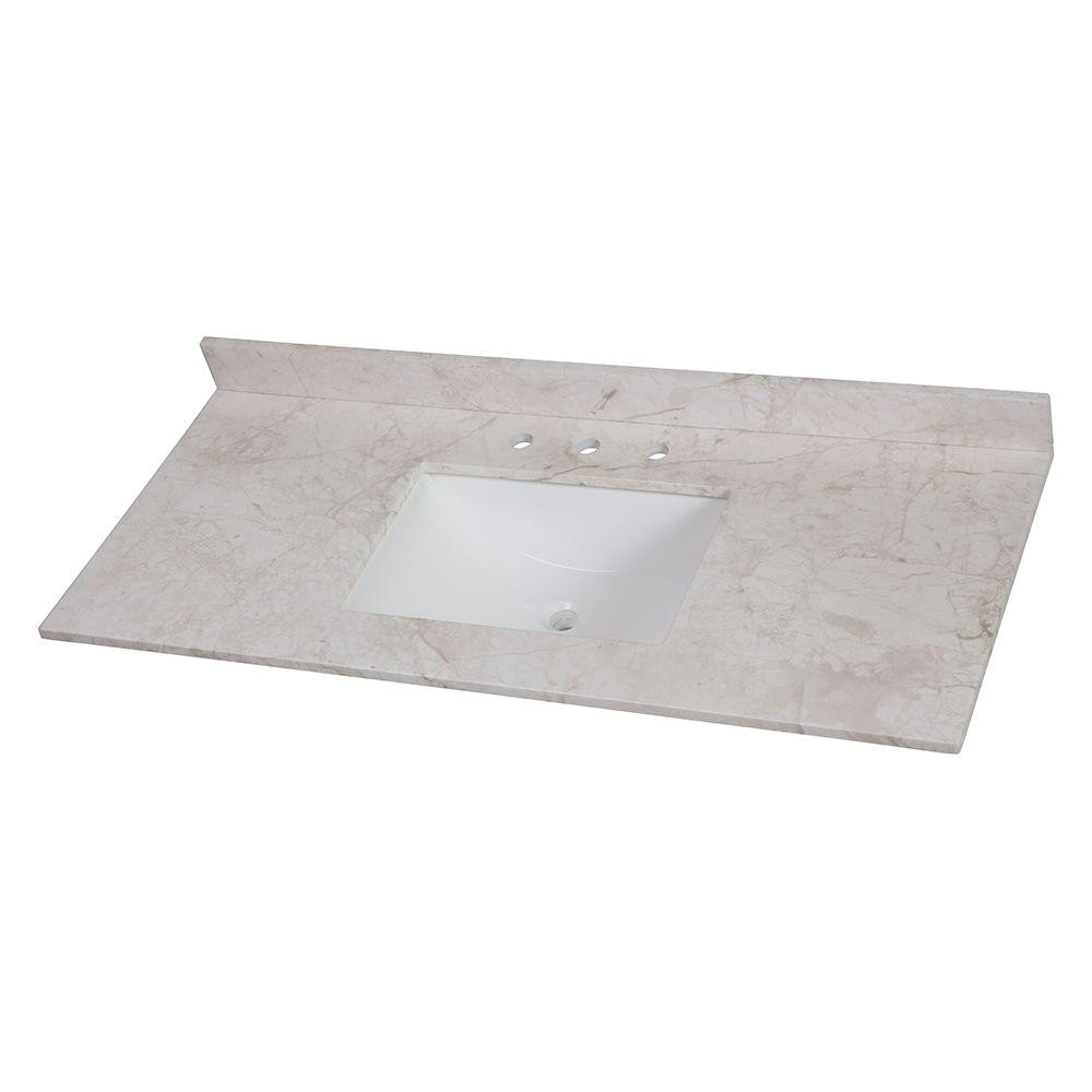 home decorators collection 49 in w x 22 in d stone effects single basin