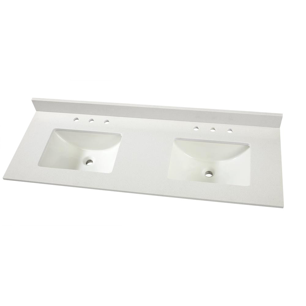 home decorators collection 61 in w x 22 in d engineered marble vanity top
