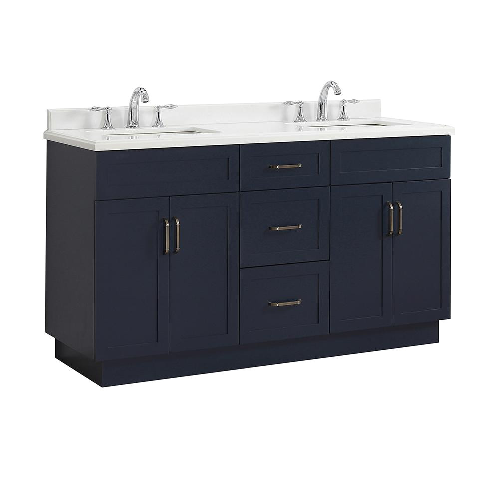 home decorators collection lincoln 60 in w x 22 in d vanity in midnight