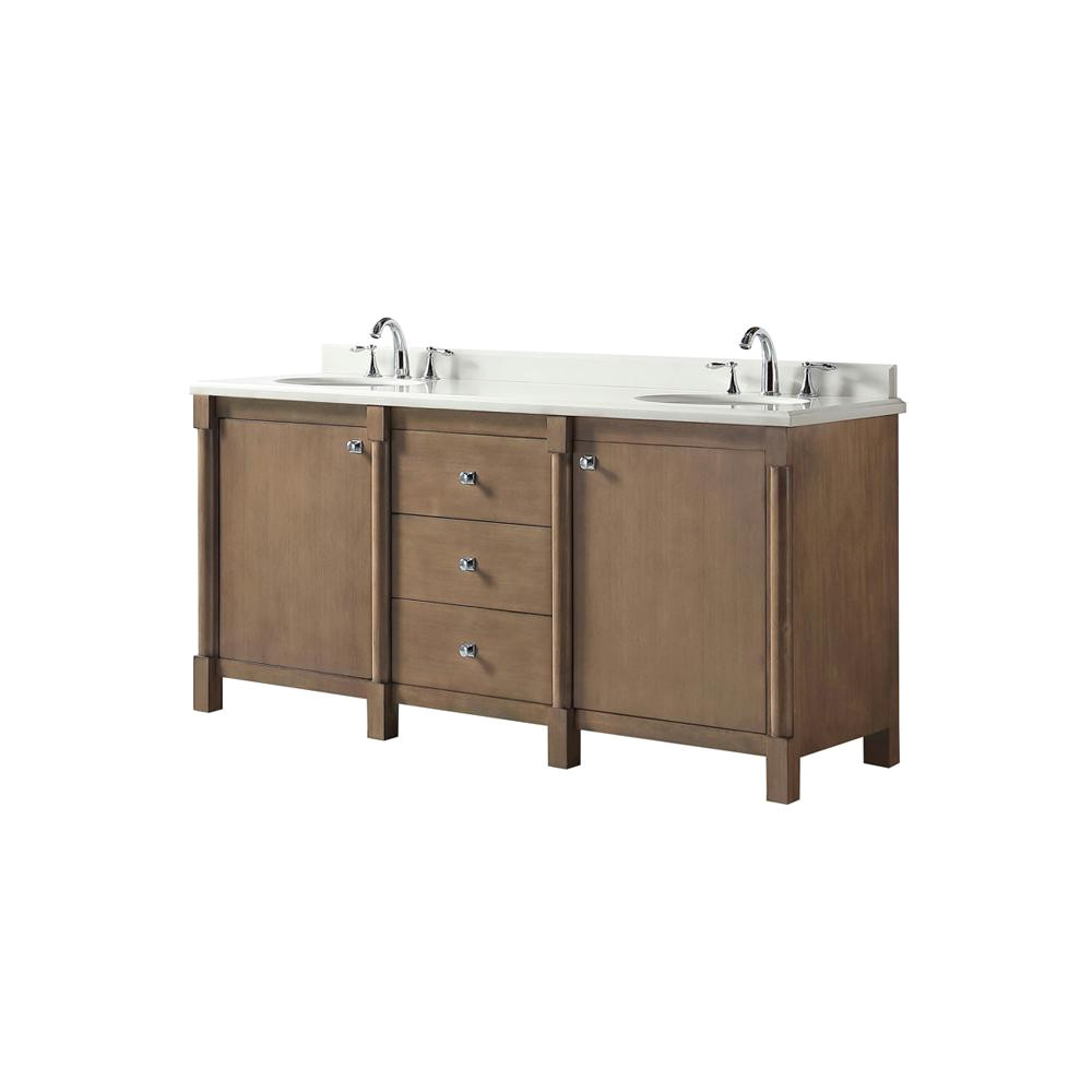 this review is from breton 72 in w x 22 in d vanity in almond toffee with marble vanity top in white with white basin
