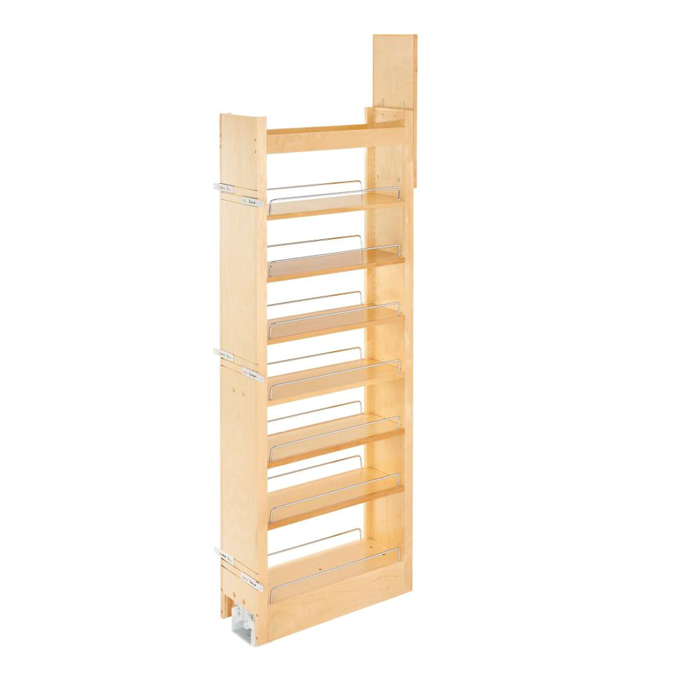 rev a shelf 59 25 in h x 8 in w x 22 in d pull out wood tall cabinet pantry 448 tp58 8 1 the home depot