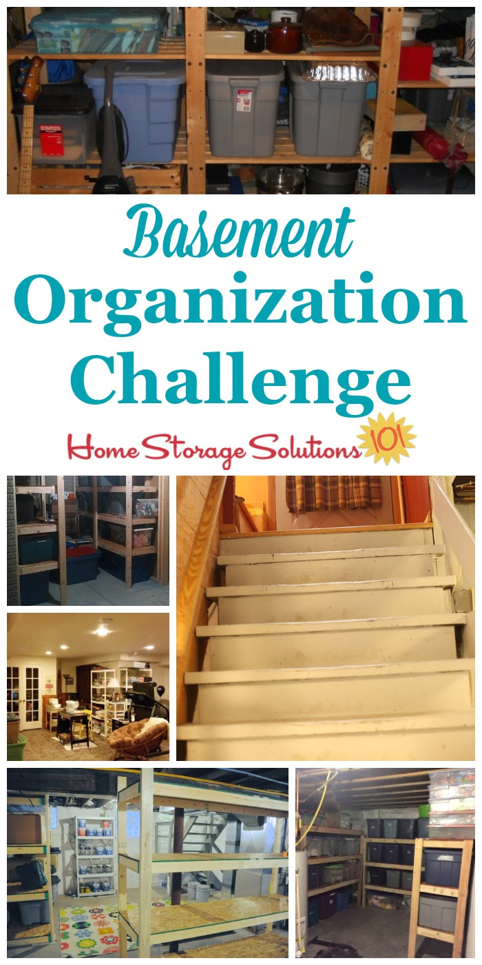 step by step instructions for basement organization including using zones to help organize the space