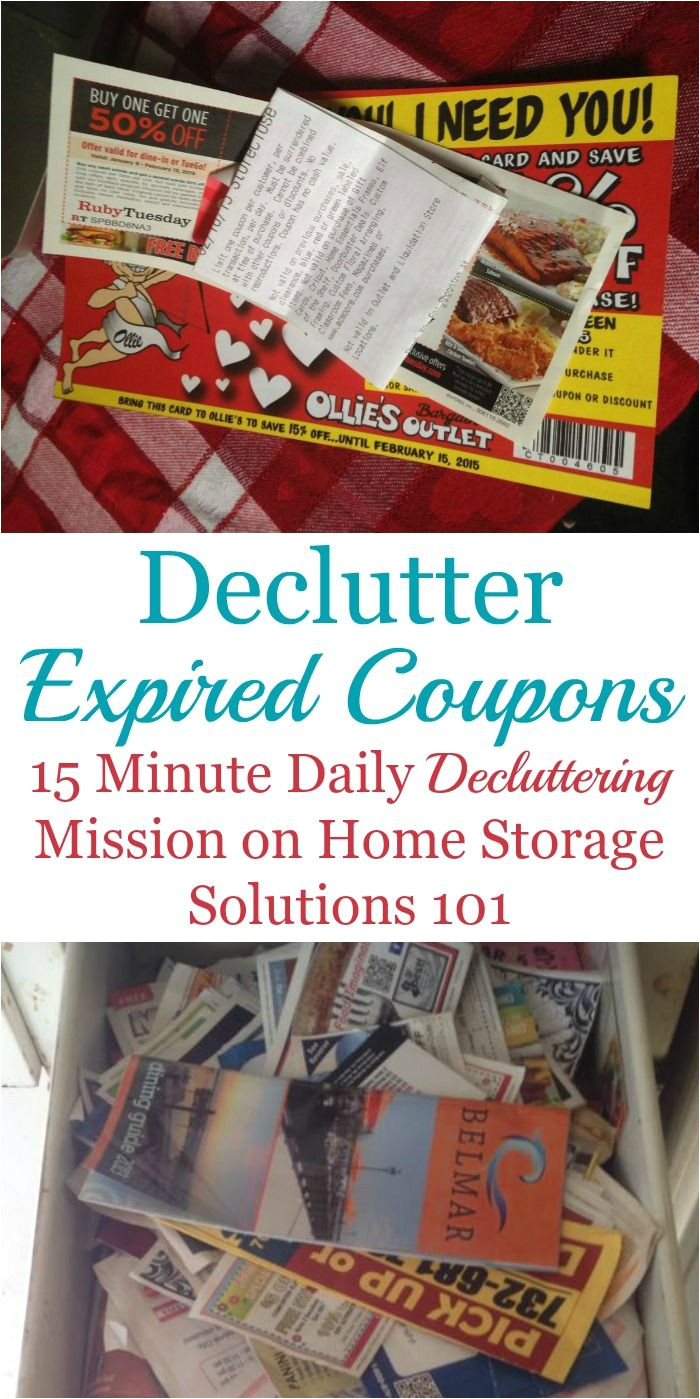 how to declutter expired coupons from around your home plus tips for how to