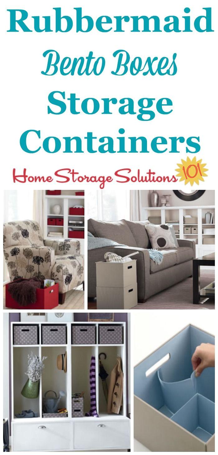 rubbermaid bento boxes decorative storage box plus organizer all in one
