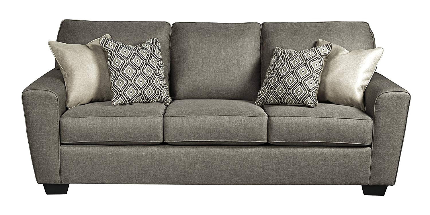 amazon com benchcraft calicho contemporary sofa sleeper queen size mattress included cashmere kitchen dining