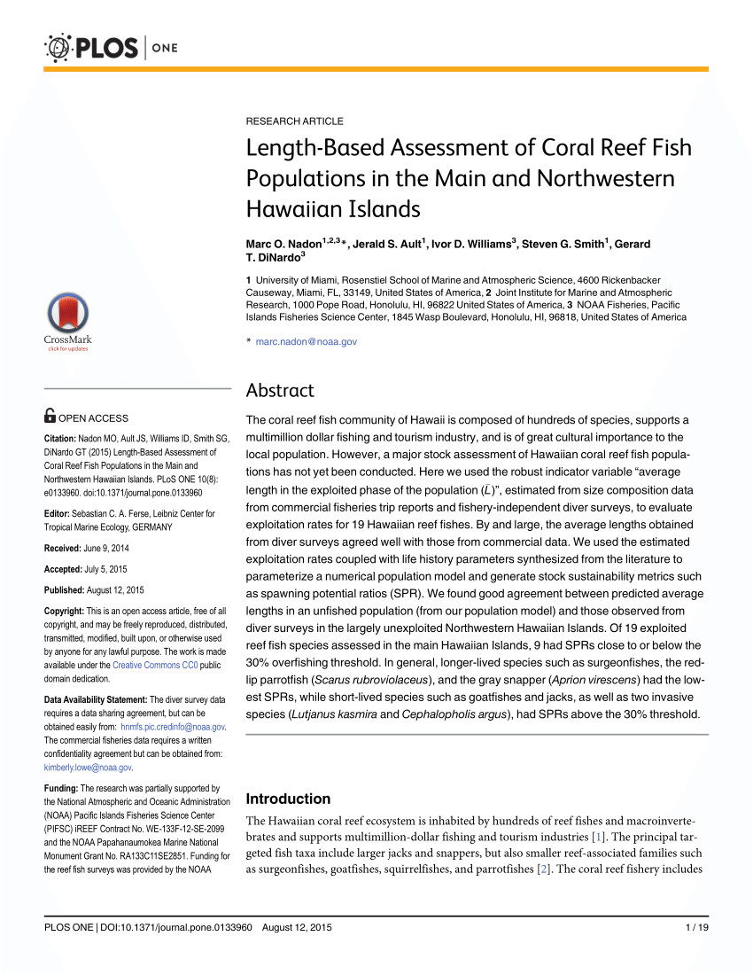 pdf a cooperative multi agency reef fish monitoring protocol for the florida keys coral reef ecosystem