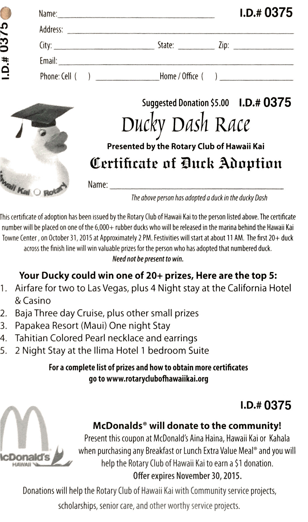 hawaii kai s ducky dash race