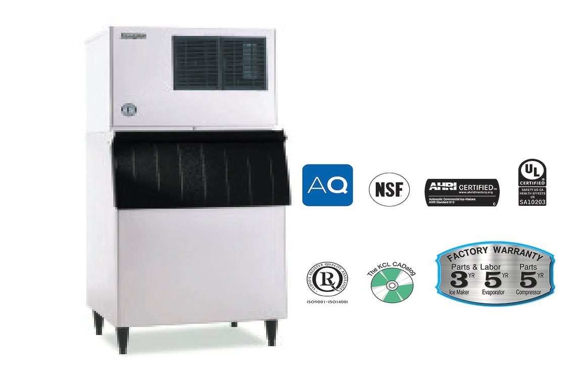 hoshizaki air water cooled low profile kml 500m a or w j
